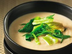 """Cream of Roasted Turnip Soup with Baby Bok Choy and Five Spices"".  What do to with all my CSA turnips."