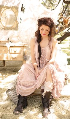 Magnolia Rose Silk Lilian Dress -  Oh. My. Perfect. Elegant. Timeless. Earthy yet Angelic. Goodness!