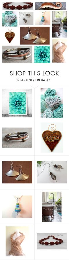 """Chocolate Turquoise"" by inspiredbyten ❤ liked on Polyvore"