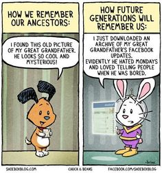 Doesn't this just speak the truth for our future #familyhistory. (genealogygems.com)