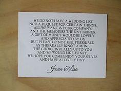5 x wedding poem cards for invitations money cash gift honeymoon wedding money request poem cards stopboris Gallery
