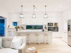 Our Hampton Style Forever Home: A Modern Hamptons Masterpiece Hamptons Style Homes, Hamptons House, The Hamptons, Modern Country Style, Hampton Style, Custom Built Homes, Home Kitchens, New Homes, House Design