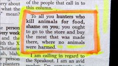 ARE YOU SERIOUS?  the human race has fallen. How does this person think that the meat is made, and doesn't come from an animal?
