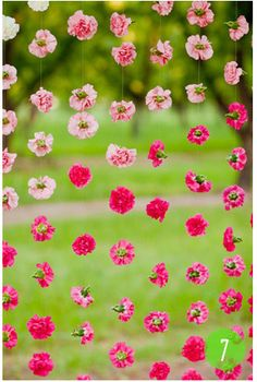 Ombre flower garland