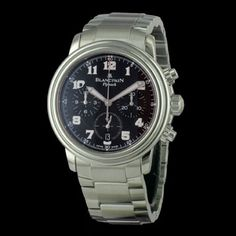 BLANCPAIN - Leman Chronographe Flyback, cresus montres de luxe d'occasion, http://www.cresus.fr/montres/montre-occasion-blancpain-leman_chronographe_flyback,r2,p23402.html