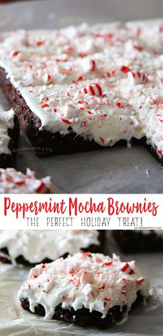 Make your holiday delicious with these easy Peppermint Mocha Brownies. So quick to make & perfect for gifting to the peppermint lover in your life. YUM! AD #IDelight