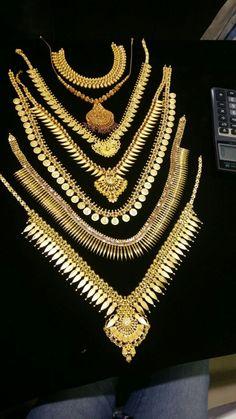 Kerala Traditional malakal Kerala Jewellery, India Jewelry, Temple Jewellery, Indian Wedding Jewelry, Wedding Jewelry Sets, Bridal Jewellery, Gold Jewellery, Locket Design, Long Chain Necklace