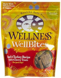 Wellness WellBites - Soft and chewy dog treats that are highly nutritious and deliciously tasty, the perfect size for training for a special treat. Available in beef & turkey, chicken & lamb, chicken & venison, and lamb & salmon flavors. Wheat-free. #bestof2013