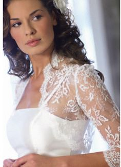 In Fashion Elegant White/Ivory Sleeves LACE Wedding Jacket/Bolero For Wedding Bridal Dress 2016 Sell Wedding Dress, Wedding Bells, Bridal Dresses, Wedding Gowns, Flower Girl Dresses, Bridesmaid Dresses, Lace Wedding, Dream Wedding, Prom Dresses