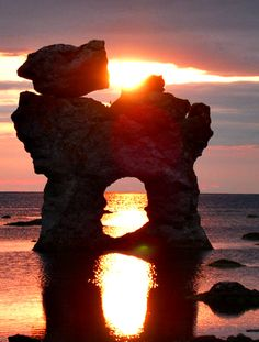Sunset in Faro, Gotland, Sweden