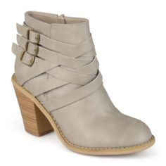 Journee Collection Strap Womens Booties - JCPenney