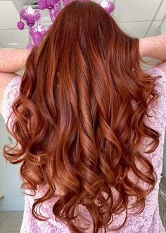 Warm Copper Balayage Hair Color Tones to Sport Nowadays Perfect Hair Color, Hot Hair Colors, Hair Color Shades, Cool Hair Color, Red Balayage Hair, Copper Balayage, Color Tones, Hair Color Highlights, Long Locks