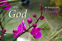 Mark 10:27 With God all things are Possible http://www.pilgrimtraveler.com/