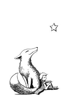 "Saatchi Art is pleased to offer the drawing, ""Prince and the Fox,"" by Indrė Bankauskaitė. Original Drawing: Pen and Ink on N/A. Size is 0 H x 0 W x 0 in. Petit Prince Quotes, Little Prince Quotes, Little Prince Tattoo, Little Prince Fox, Mini Tattoos, Body Art Tattoos, Tatoos, Prince Drawing, Prince Tattoos"