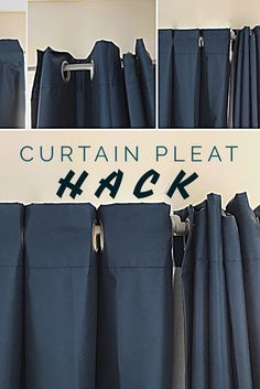 This super easy curtain pleat hack will transform how your curtains hang and look in any room in your house. This super easy curtain pleat hack will transform how your curtains hang and look in any room in your house. No Sew Curtains, Hanging Curtains, How To Hang Curtains, Yellow Curtains, Wall Of Curtains, Drop Cloth Curtains, Yellow Walls, Blackout Curtains, Living Room Decor Curtains
