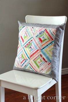 A Selvage pillow + a giveaway - A Bright Corner