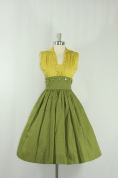 1950's Cotton Summer Dress and Matching by VintageFrocksOfFancy, $140.00