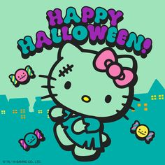 The official website for all things Sanrio - the official home of Hello Kitty & Friends - games, events, characters, videos, shopping and more! Hello Kitty Outfit, Hello Kitty Clothes, Hello Kitty Art, Hello Kitty Tattoos, Sanrio Hello Kitty, Hello Kitty Halloween, Hello Kitty Birthday, Happy Halloween, Halloween 2019