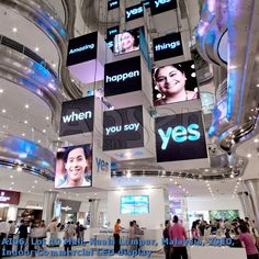 Project Area: Malaysia; Screen Size: 1.92x1.92,1.344x1.344,0.96x0.96 sqm; Applicable environment: Commercial LED display; Indoor LED screens;