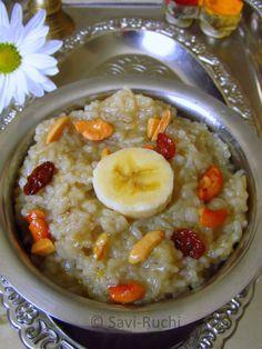 Banana Huggi Recipe | Banana Pongal : Unique pongal recipe ~ Savi-Ruchi