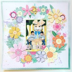 Was having fun with my watercolors and decided to fussycut these fabulous flowers and make a wreath. I'm scraplifting #paigetaylorevans for this one. I saw this idea from a class she taught and thought it was beautiful. I even took a couple pics of the layout in process. #scrapping #scrappy #scrapbooking #scrapbooklayout #scrapbooklove #pinkpaislee #pinkpaisleeohmyheart #ppohmyheart #memorykeeping #papercrafts