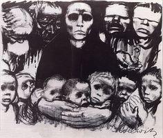 Kather Kollwitz German expressionist- Survivors