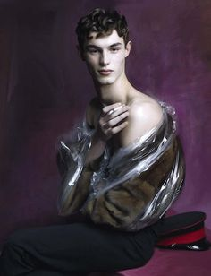 "fantasists: ""Kit Butler by Steven Meisel for Vogue Italia March 2016 Meisel is the star here. He's got the kid wearing ""mothballs."""