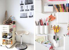 Interieur Bruxellois - Bureau rangement design Vitra