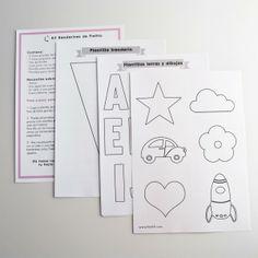 Instrucciones para kit banderines de fieltro DIY http://fdefifi.com/es/guirnaldas-y-banderines/139-kit-banderines-fieltro-fucsia.html