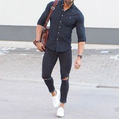 Most Popular Men's Fashion Trend 2017 0052 Mode Outfits, Casual Outfits, Fashion Outfits, Fashion Trends, Men's Fashion, Fashion Sale, Simple Outfits, Paris Fashion, Runway Fashion