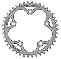 Wolf Tooth Components - Single Chainring 110 BCD Cyclocross Chainrings - $79 - No Chainguards needed