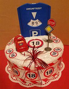 * Pastel de toallas * 18 años * carnet de conducir * coche * ᐅ TOP torta de toallas . 18 Birthday, 18th Birthday Cake, Birthday Balloons, Happy Birthday Cards, Birthday Presents, Towel Cakes, Best Gifts For Mom, Seasonal Celebration, Cakes For Boys
