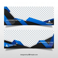 Abstract shapes business banners Free Ve. Banner Design Inspiration, Web Banner Design, Flyer Design, Web Design, Typography Design, Branding Design, Typography Logo, Banner Vector, Banner Template