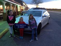 The girls and my daughter love the new car...:) #ysbh