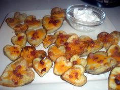 Heart shaped potato skins!