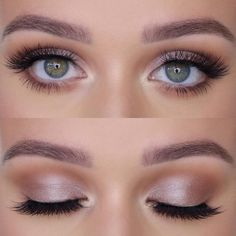 Eye Make-up – natural and elegant bridal makeup look Loading. Eye Make-up – natural and elegant bridal makeup look Wedding Makeup Tips, Natural Wedding Makeup, Wedding Hair And Makeup, Bridesmaid Makeup Natural, Natural Make Up Wedding, Natural Look Makeup, Natural Make Up Looks, Bridal Eye Makeup, Wedding Nails