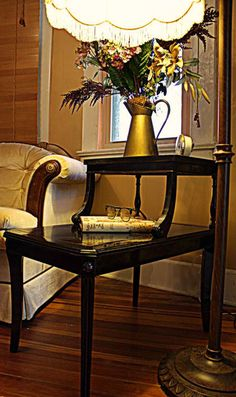 Elegant TwoTier Lamp Table by nookandcrannycompany on Etsy, $150.00