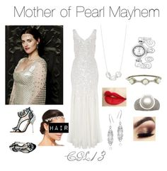 """Mother of Pearl Mayhem"" by cgl13 ❤ liked on Polyvore featuring Sophia Webster, Geneva, Glitzy Rocks, Nadri, Phase Eight, Josette and Judith Ripka"