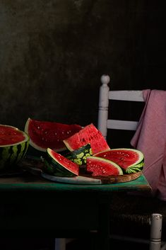 National Watermelon Day; August 3. (by Raquel Carmona)