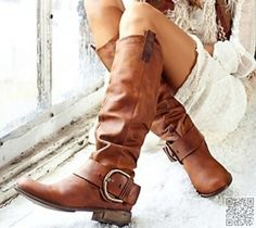 6. Big #Buckle - 46 Perfect #Pairs of Fall Boots to #Complete Your Wardrobe ... → #Fashion #Neutral