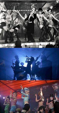 Joel Grey as the Master of Ceremonies & the Kit-Kat Dancers in Cabaret (1972)