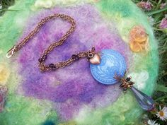 Necklace Vintage Lucite and Copper by GratefulBeads on Etsy, $30.00