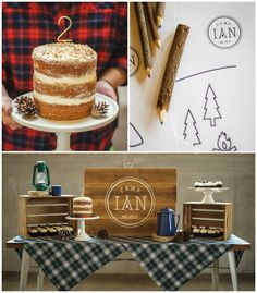 Camping themed birthday party via Kara's Party Ideas KarasPartyIdeas.com Cake, decor, giveaways, recipes, favors and more! #camping #camping...