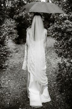 anna maier wedding dress . rainy day wedding . real cake vs. rain, love wins