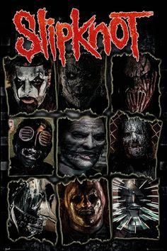 Poster SLIPKNOT - Gray Chapter Masks - http://rockagogo.com