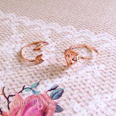 Arrow & Diamond Ring ♡ #lovelythingscom