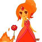 Pixel Flame Princess and Calcifer by DAV-19.deviantart.com on @deviantART