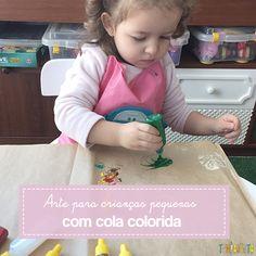 Como usar cola colorida para fazer um cantinho que vai estimular a criatividade das crianças. Um atividade divertida, capaz de reunir diferentes idades.