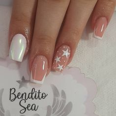 French Manicure Nail Designs, Fire Nails, Get Nails, Stylish Nails, Gorgeous Nails, Beauty Routines, Nails Inspiration, Nailart, Design Ideas