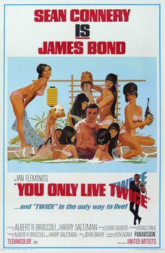 You Only Live Twice (1967)  Bond - (Sean Connery)  /  Bond Girl - Kissy Suzuki (Mie Hama) & Aki (Akiko Wakabayawshi) & Helga Brandt (Karin Dor)  /  Bond Villain - Ernst Stavro Blofeld (Donald Pleasence)